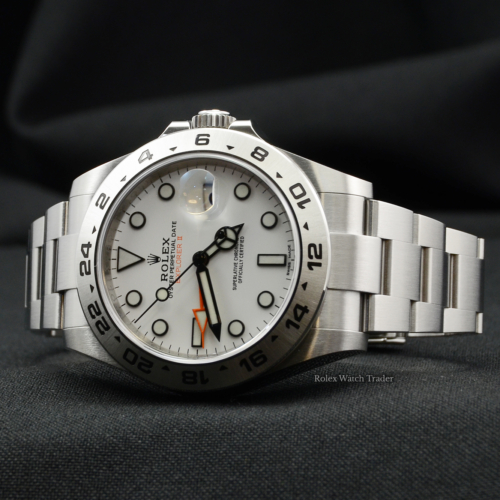 Rolex Explorer II 216570 White 'Polar' Dial 2018 UK Pre-Owned Second Hand Used For Sale Available Purchase Buy Online with Part Exchange or Direct Sale Manchester North West England UK Great Britain Buy Today Free Next Day Delivery Warranty