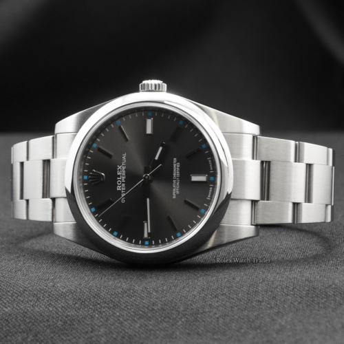 Rolex Oyster Perpetual 114300 39mm Rhodium Dial 2017 Stainless Steel Used Second Hand Pre-Owned For Sale Available Purchase Buy Online with Part Exchange or Direct Sale Manchester North West England UK Great Britain Buy Today Free Next Day Delivery Warranty Luxury Watch Watches