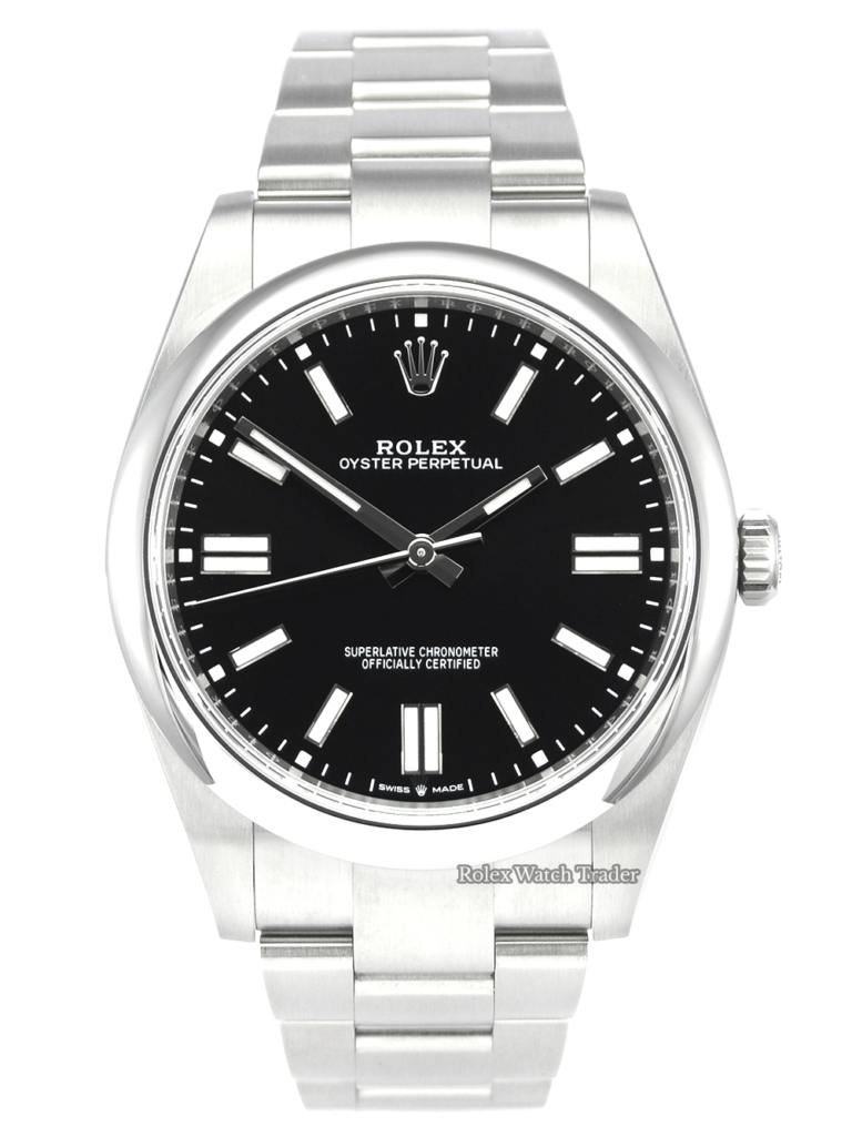 Rolex Oyster Perpetual 124300 41 Black Dial Unworn For Sale Available Purchase Buy Online with Part Exchange or Direct Sale Manchester North West England UK Great Britain Buy Today Free Next Day Delivery Warranty Luxury Watch Watches