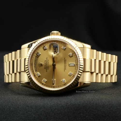 Rolex Day-Date President 118238 36mm SERVICED BY ROLEX 2004 2 Year Rolex Service Warranty Pre-Owned Used For Sale Available Purchase Online with Part Exchange or Direct Sale Manchester North West England UK Great Britain Buy Today
