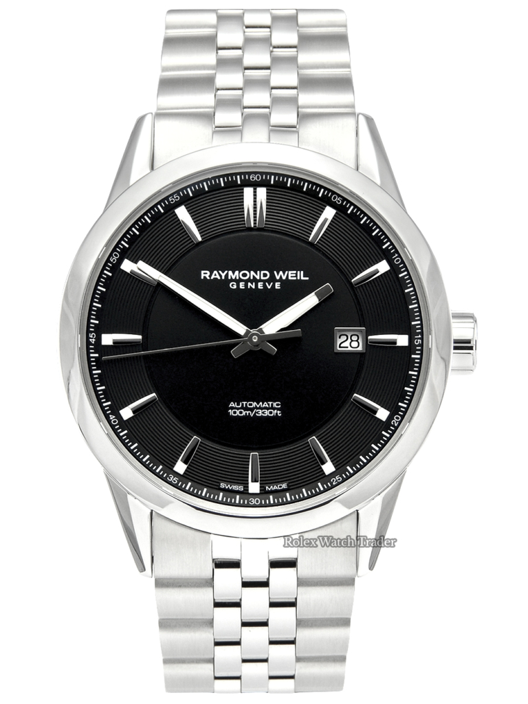 Raymond Weil Freelancer 2731-ST-20001 Unworn 2020 Black Dial Concentric Rings For Sale Available Purchase Buy Online with Part Exchange or Direct Sale Manchester North West England UK Great Britain Buy Today Free Next Day Delivery Warranty Luxury Watch Watches