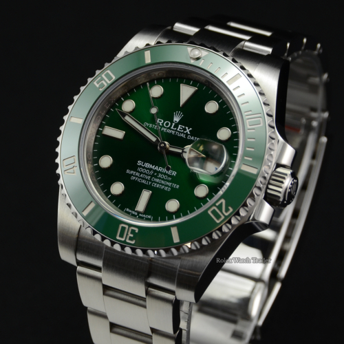 "Rolex Submariner 116610LV ""Hulk"" 2019 Pre-Owned Second Hand Used For Sale Available Purchase Buy Online with Part Exchange or Direct Sale Manchester North West England UK Great Britain Buy Today Free Next Day Delivery Warranty Luxury Watch Watches"