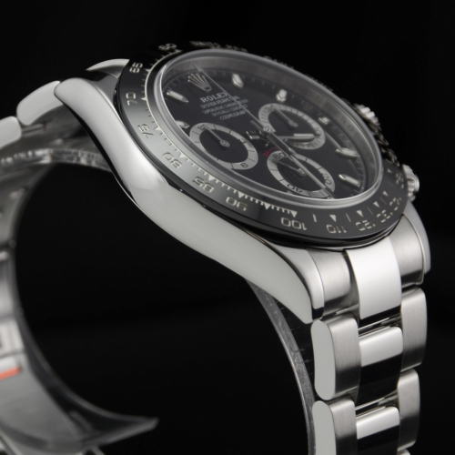 Rolex Daytona 116500LN Black Dial Ceramic Bezel Pre-Owned Used Second Hand Stainless Steel Cerachrom For Sale Available Purchase Buy Online with Part Exchange or Direct Sale Manchester North West England UK Great Britain Buy Today Free Next Day Delivery Warranty Luxury Watch Watches