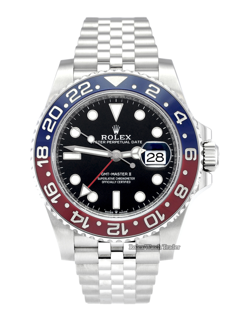 Rolex GMT-Master II 126710BLRO Pepsi Pre-Owned Used Second Hand Blue & Red Bezel For Sale Available Purchase Buy Online with Part Exchange or Direct Sale Manchester North West England UK Great Britain Buy Today Free Next Day Delivery Warranty Luxury Watch Watches