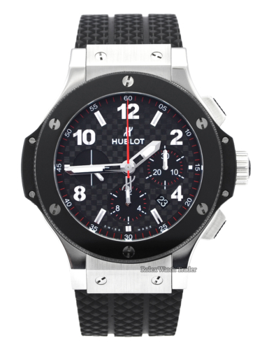 Hublot Big Bang Original Steel Ceramic 44mm 301.SB.131.RX December 2020 UK Brand New Unworn Rubber Strap For Sale Available Purchase Buy Online with Part Exchange or Direct Sale Manchester North West England UK Great Britain Buy Today Free Next Day Delivery Warranty Luxury Watch Watches