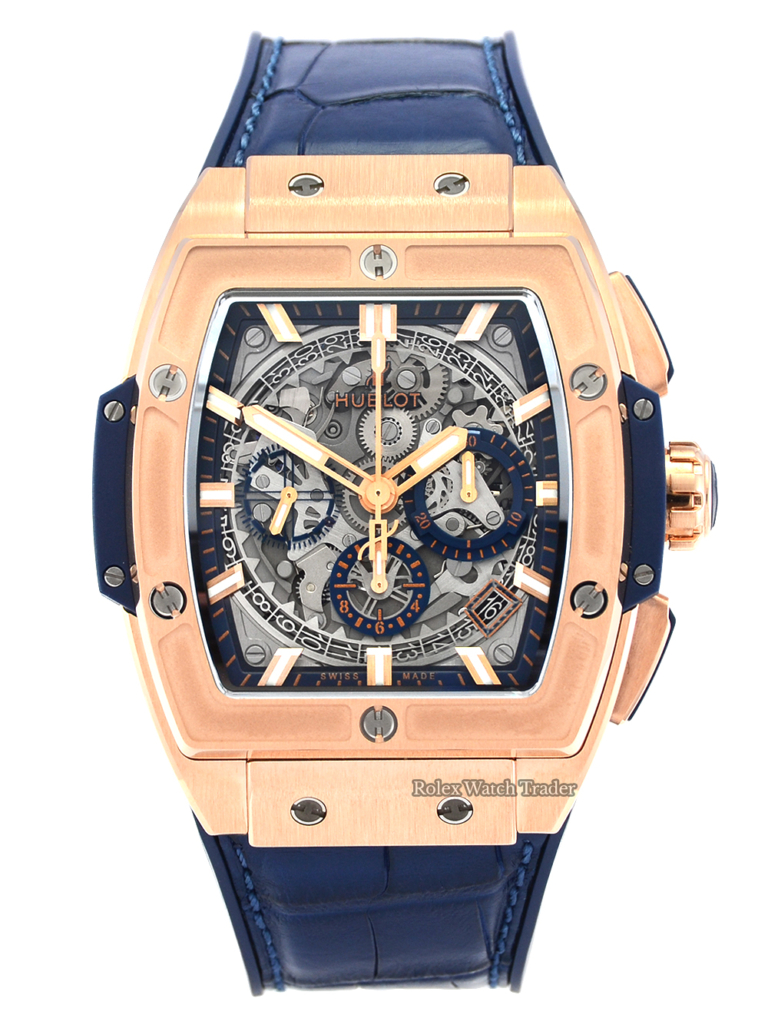 Hublot Spirit Of Big Bang King Gold 42mm 641.OX.7180.LR Chronograph Skeleton 2020 Brand New Unworn For Sale Available Purchase Buy Online with Part Exchange or Direct Sale Manchester North West England UK Great Britain Buy Today Free Next Day Delivery Warranty Luxury Watch Watches