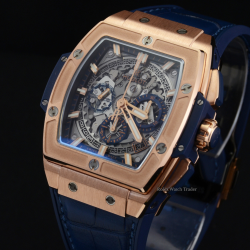 Hublot Spirit Of Big Bang King Gold 42mm Chronograph Skeleton 2020 Brand New Unworn For Sale Available Purchase Buy Online with Part Exchange or Direct Sale Manchester North West England UK Great Britain Buy Today Free Next Day Delivery Warranty Luxury Watch Watches