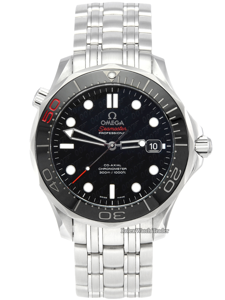 Omega Seamaster Diver 300M 212.30.41.20.01.005 James Bond 50th Anniversary 41mm Limited Edition Stainless Steel Black Dial For Sale Available Purchase Buy Online with Part Exchange or Direct Sale Manchester North West England UK Great Britain Buy Today Free Next Day Delivery Warranty Luxury Watch Watches