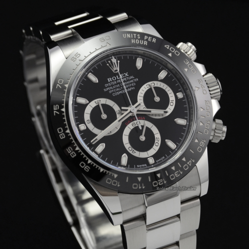 Rolex Daytona 116500LN Unworn 2020 Stickers Black Dial Ceramic Stainless Steel 40mm For Sale Available Purchase Buy Online with Part Exchange or Direct Sale Manchester North West England UK Great Britain Buy Today Free Next Day Delivery Warranty Luxury Watch Watches