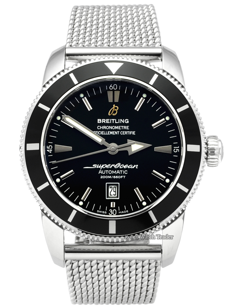Breitling Superocean Heritage 46 A1732024.B868.152A Steel & Black Dial Bezel Box & Papers For Sale Available Purchase Buy Online with Part Exchange or Direct Sale Manchester North West England UK Great Britain Buy Today Free Next Day Delivery Warranty Luxury Watch Watches