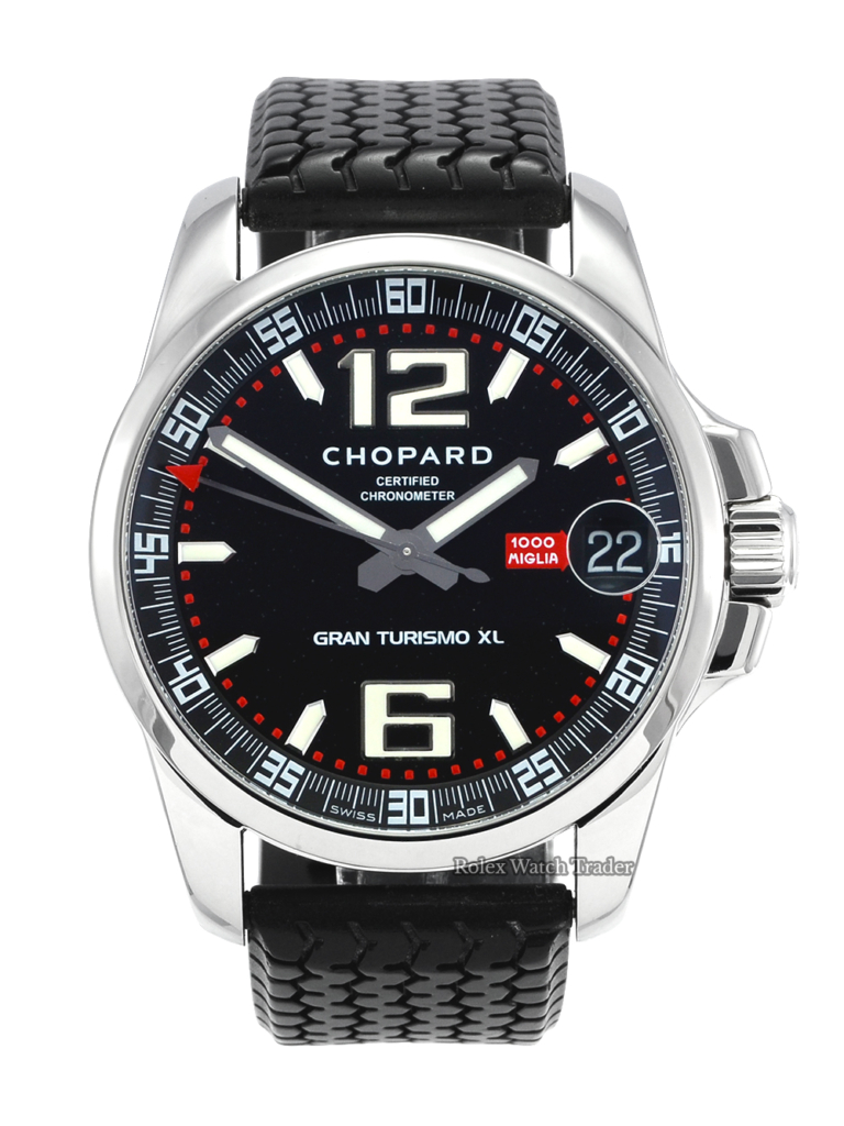 Chopard Mille Miglia Gran Turismo Xl Just Serviced 2006 Rubber Strap Pre-Owned Previously Owned Used Second Hand For Sale Available Purchase Buy Online with Part Exchange or Direct Sale Manchester North West England UK Great Britain Buy Today Free Next Day Delivery Warranty Luxury Watch Watches