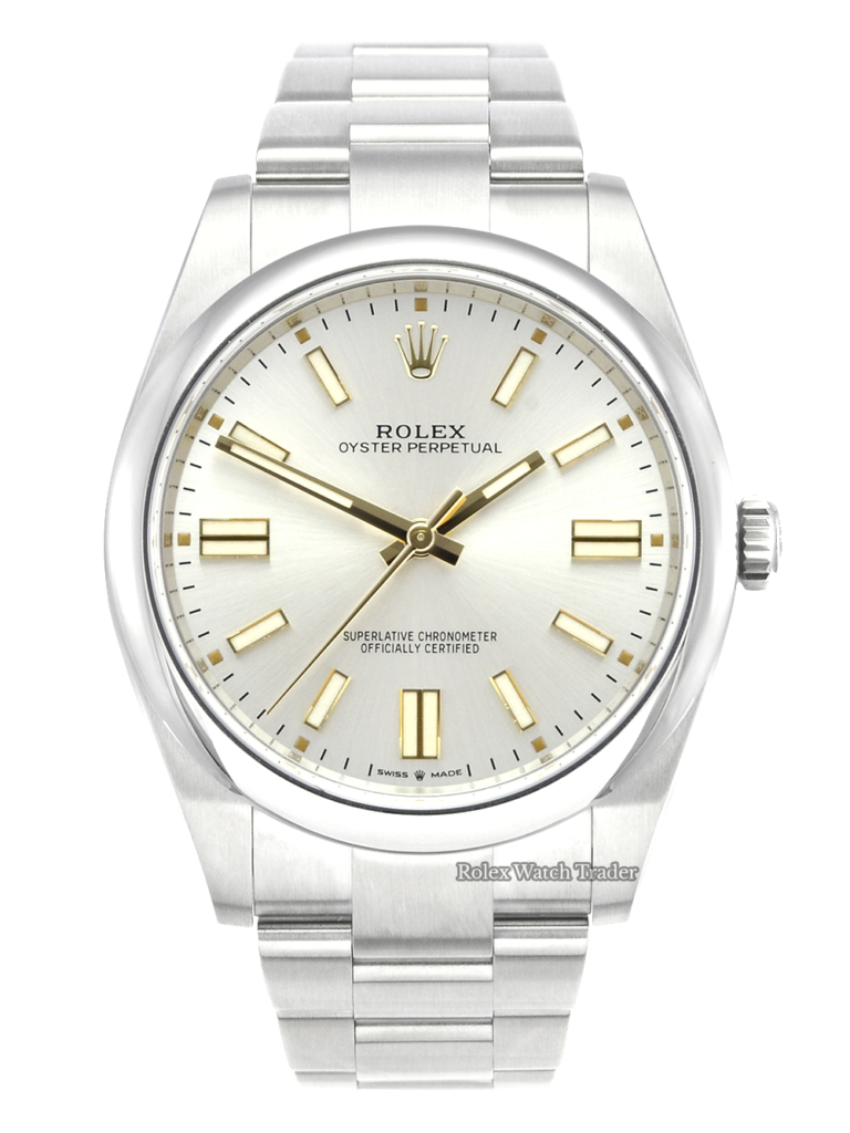 Rolex Oyster Perpetual 124300 41mm Silver Dial Unworn 2021 Pre-Owned Brand New For Sale Available Purchase Buy Online with Part Exchange or Direct Sale Manchester North West England UK Great Britain Buy Today Free Next Day Delivery Warranty Luxury Watch Watches