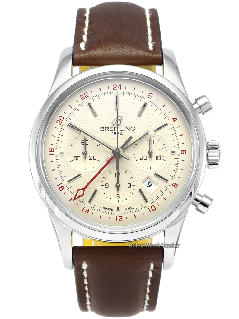 Breitling Transocean Chronograph GMT AB045112 SERVICED BY BREITLING Limited Edition Pre-Owned Used Second Hand Rare Unique For Sale Available Purchase Buy Online with Part Exchange or Direct Sale Manchester North West England UK Great Britain Buy Today Free Next Day Delivery Warranty Luxury Watch Watches