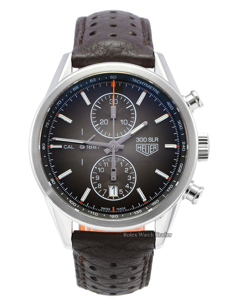 TAG Heuer 300 SLR Carrera 1887 CAR2112.FC6267 Mercedes Inspired Limited Edition Men's Pre-Owned Second Hand Used For Sale Available Purchase Buy Online with Part Exchange or Direct Sale Manchester North West England UK Great Britain Buy Today Free Next Day Delivery Warranty Luxury Watch Watches