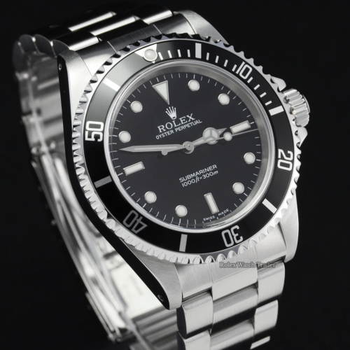 Rolex Submariner No Date 14060 '2 Liner' Box & Papers Stainless Steel Black Dial Serviced with 2 Years Warranty Black Rotating Bezel Diver's Watch For Sale Available Purchase Buy Online with Part Exchange or Direct Sale Manchester North West England UK Great Britain Buy Today Free Next Day Delivery Warranty Luxury Watch Watches