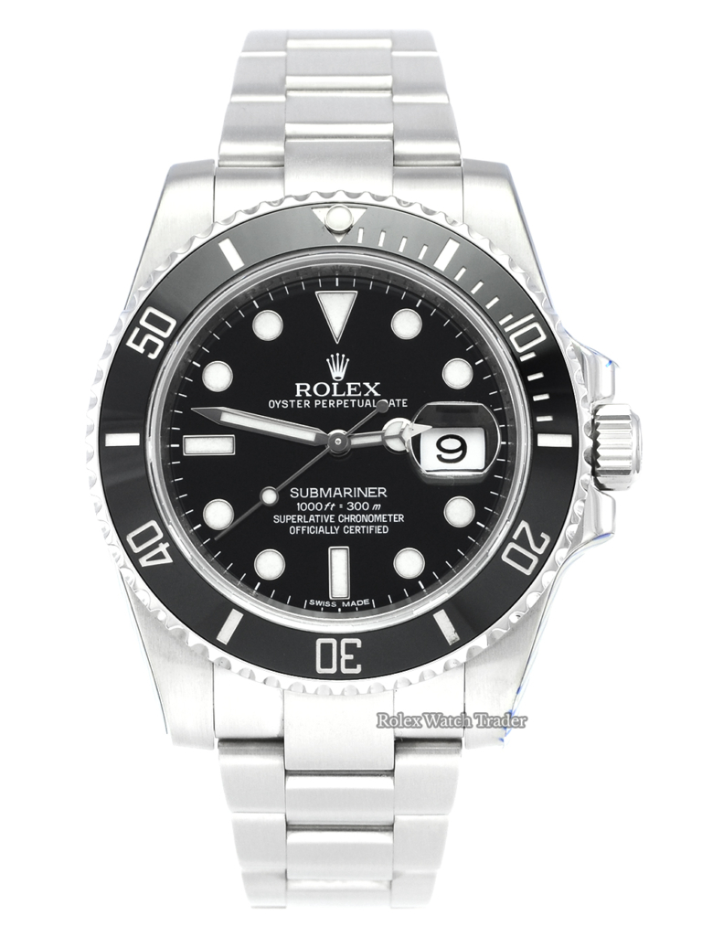 Rolex Submariner Date 116610LN SERVICED BY ROLEX 40mm Pre-Owned Used Second Hand Previously Owned Discontinued Out of Production Rare For Sale Available Purchase Buy Online with Part Exchange or Direct Sale Manchester North West England UK Great Britain Buy Today Free Next Day Delivery Warranty Luxury Watch Watches