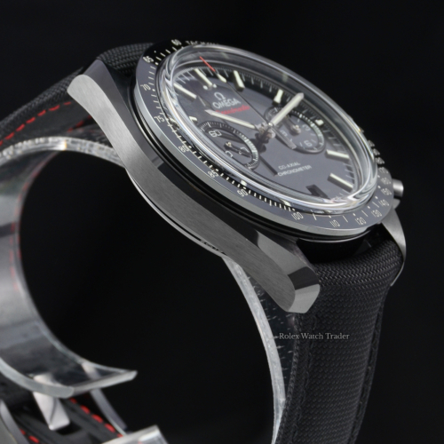 Omega Speedmaster Dark Side Of The Moon 311.92.44.51.01.003 Black Ceramic Case and Bezel Fabric Strap Pre-Owned Used Like New For Sale Available Purchase Buy Online with Part Exchange or Direct Sale Manchester North West England UK Great Britain Buy Today Free Next Day Delivery Warranty Luxury Watch Watches