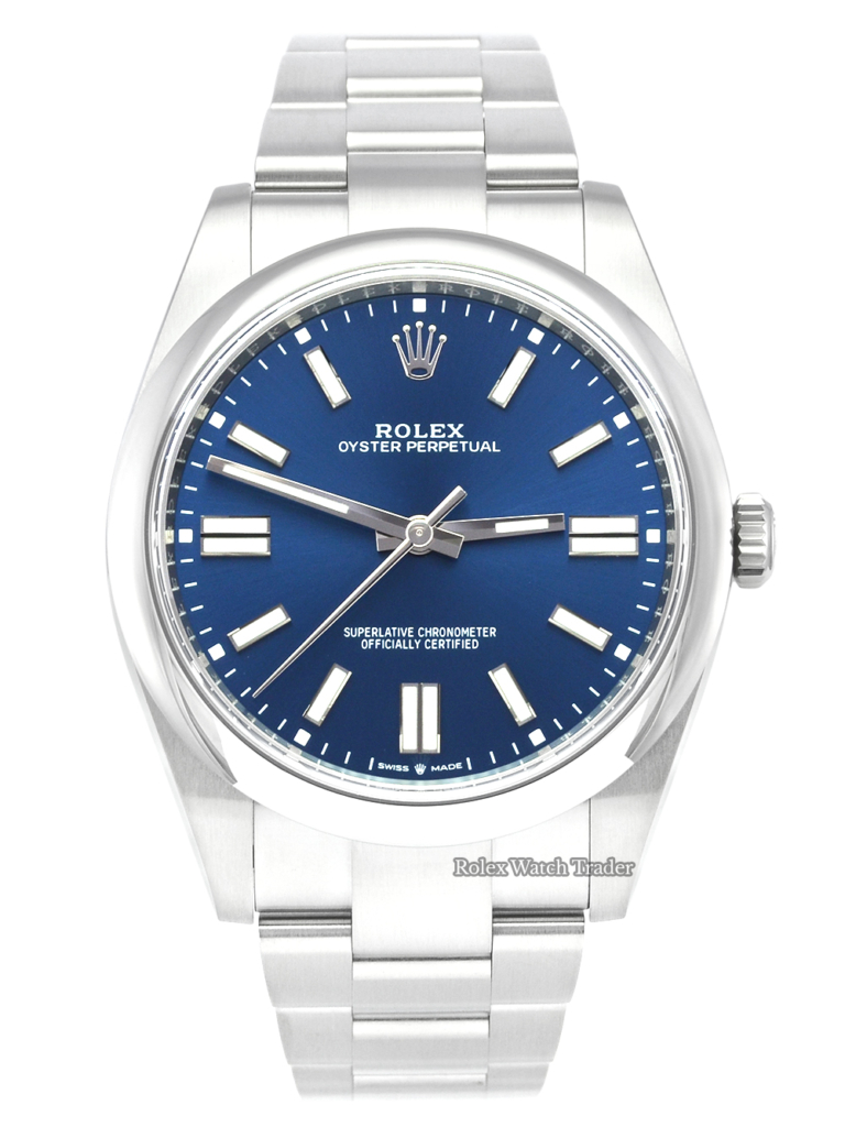 Rolex Oyster Perpetual 124300 41mm Bright Blue Unworn 2021 Brand New For Sale Available Purchase Buy Online with Part Exchange or Direct Sale Manchester North West England UK Great Britain Buy Today Free Next Day Delivery Warranty Luxury Watch Watches