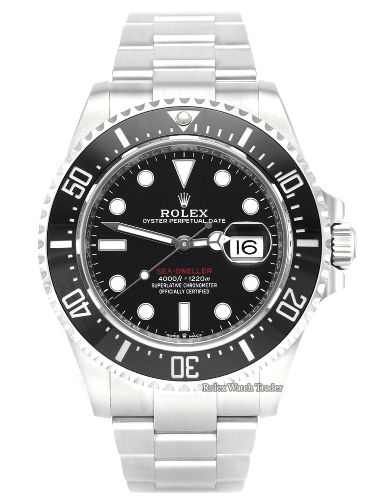 Rolex Sea-Dweller 126600 Unworn with Stickers Red Writing 43mm UK Brand New Unworn For Sale Available Purchase Buy Online with Part Exchange or Direct Sale Manchester North West England UK Great Britain Buy Today Free Next Day Delivery Warranty Luxury Watch Watches