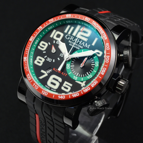 Graham Silverstone Kuwait Khamsin Limited Edition 44/50 48mm 2BLBB.B24A 2011 Rare Hard To Find Unworn Brand New For Sale Available Purchase Buy Online with Part Exchange or Direct Sale Manchester North West England UK Great Britain Buy Today Free Next Day Delivery Warranty Luxury Watch Watches