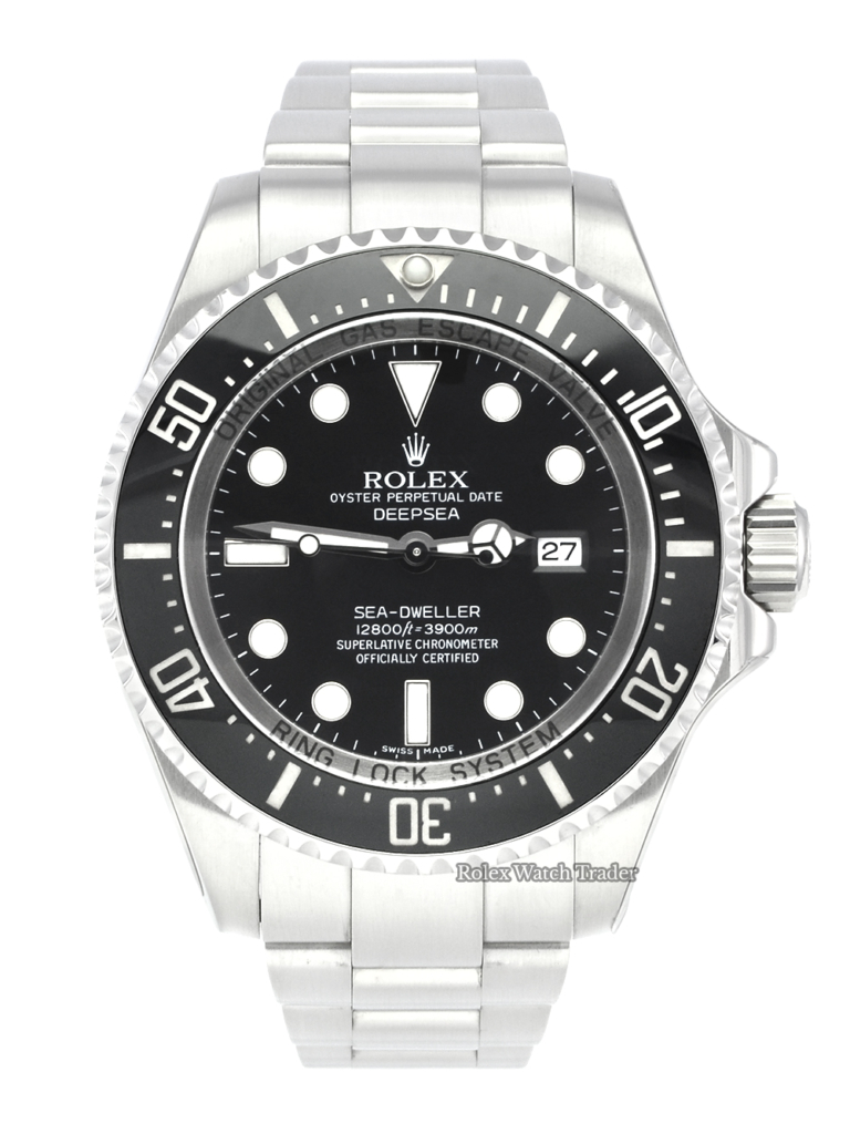 Rolex Sea-Dweller Deepsea 116660 Rolex 2021 Service Stickers Unworn Since Stainless Steel Water Resistant To 3900m For Sale Available Purchase Buy Online with Part Exchange or Direct Sale Manchester North West England UK Great Britain Buy Today Free Next Day Delivery Warranty Luxury Watch Watches