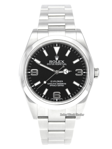 Rolex Explorer 1 214270 MK1 39mm Dial Discontinued Model Out of Production Mark I Dial Pre-Owned Second Hand Used Serviced by Rolex Service History For Sale Available Purchase Buy Online with Part Exchange or Direct Sale Manchester North West England UK Great Britain Buy Today Free Next Day Delivery Warranty Luxury Watch Watches