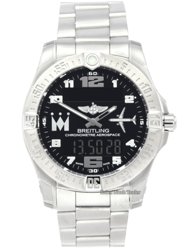 Breitling Aerospace Evo E793631E/BH16 Unworn Limited Edition Monarch Airlines 28/50 Unworn Brand New Black Dial For Sale Available Purchase Buy Online with Part Exchange or Direct Sale Manchester North West England UK Great Britain Buy Today Free Next Day Delivery Warranty Luxury Watch Watches