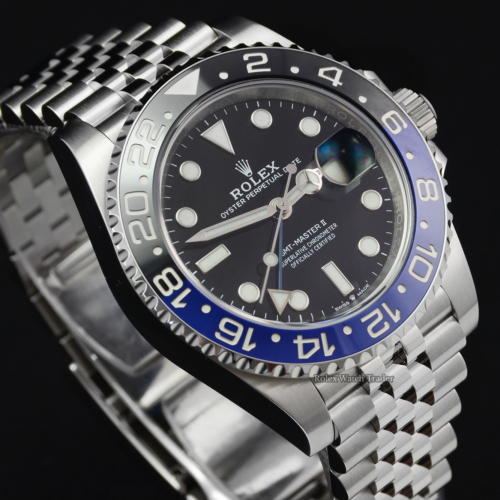 Rolex GMT-Master II 126710BLNR Jubilee Unworn 2021 Batgirl Stainless Steel Brand New For Sale Available Purchase Buy Online with Part Exchange or Direct Sale Manchester North West England UK Great Britain Buy Today Free Next Day Delivery Warranty Luxury Watch Watches