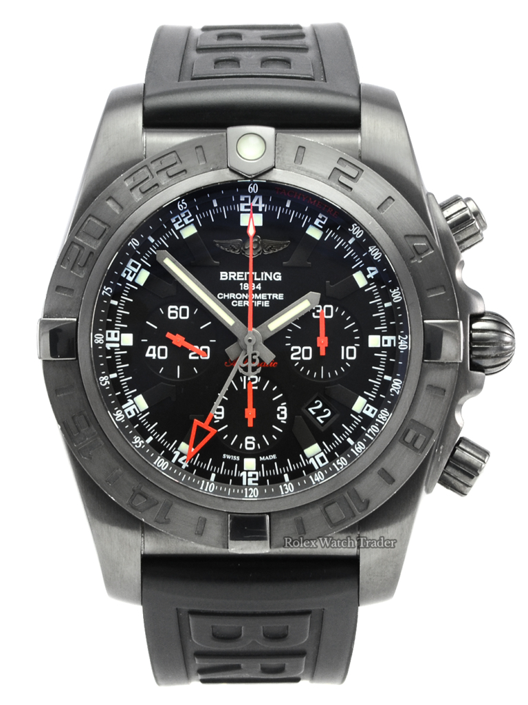 Breitling Chronomat GMT MB041310 Black Limited Edition 949/1000 Pre-Owned Used Second Hand Stainless Steel DLC Black Coated For Sale Available Purchase Buy Online with Part Exchange or Direct Sale Manchester North West England UK Great Britain Buy Today Free Next Day Delivery Warranty Luxury Watch Watches