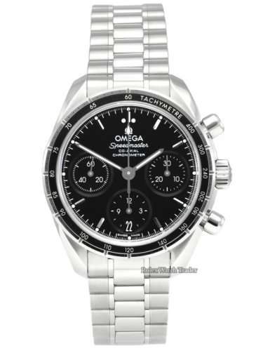 Omega Speedmaster 324.30.38.50.01.00 Co-axial Chronometer Chronograph 38mm 2020 Very Good Condition Like New Pre-Owned Used Second Hand Previously Owned Stainless Steel Black Dial For Sale Available Purchase Buy Online with Part Exchange or Direct Sale Manchester North West England UK Great Britain Buy Today Free Next Day Delivery Warranty Luxury Watch Watches
