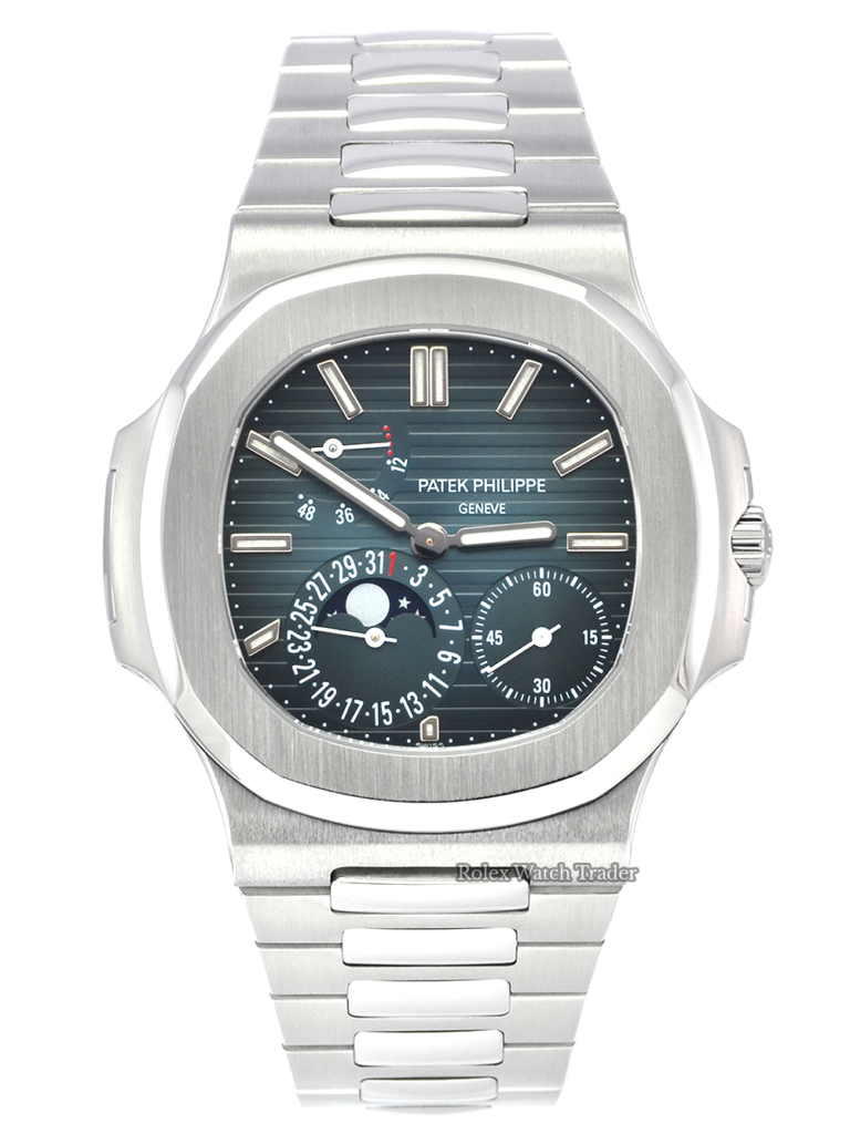 Patek Philippe Nautilus 5712/1A-001 Serviced by Patek Philippe 2 Years Warranty For Sale Available Purchase Buy Online with Part Exchange or Direct Sale Manchester North West England UK Great Britain Buy Today Free Next Day Delivery Warranty Luxury Watch Watches