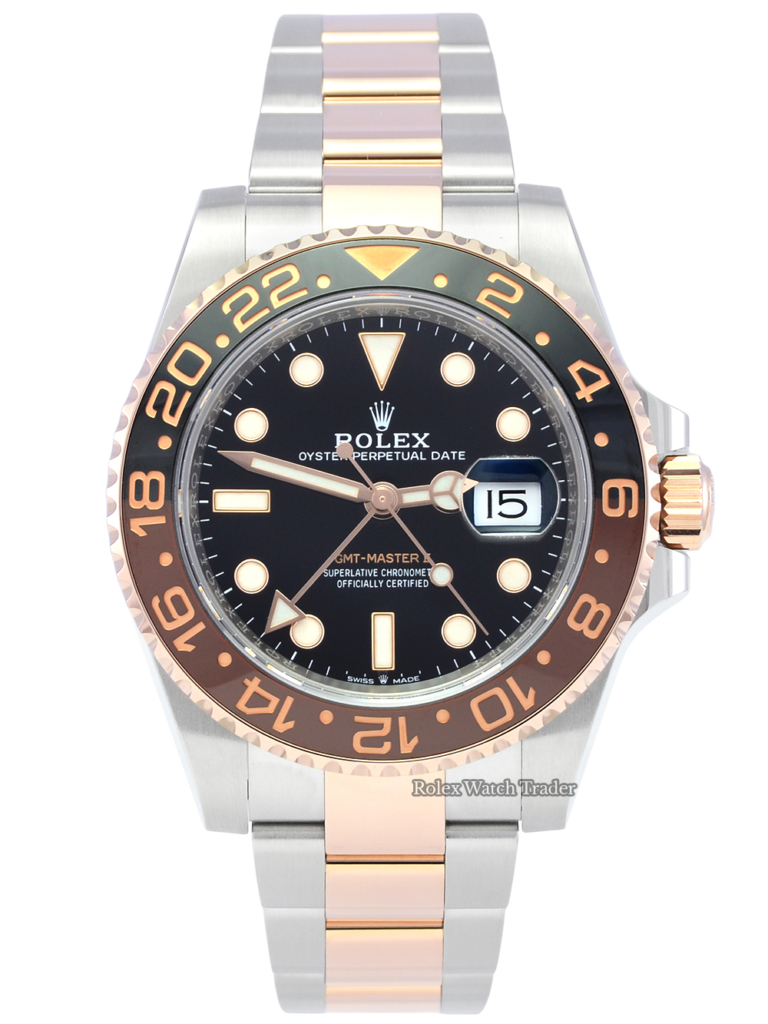 """Rolex GMT-Master II 126711CHNR """"Root Beer"""" UK 2019 Black & Brown Bezel GMT Ceramic Insert For Sale Available Purchase Buy Online with Part Exchange or Direct Sale Manchester North West England UK Great Britain Buy Today Free Next Day Delivery Warranty Luxury Watch Watches"""