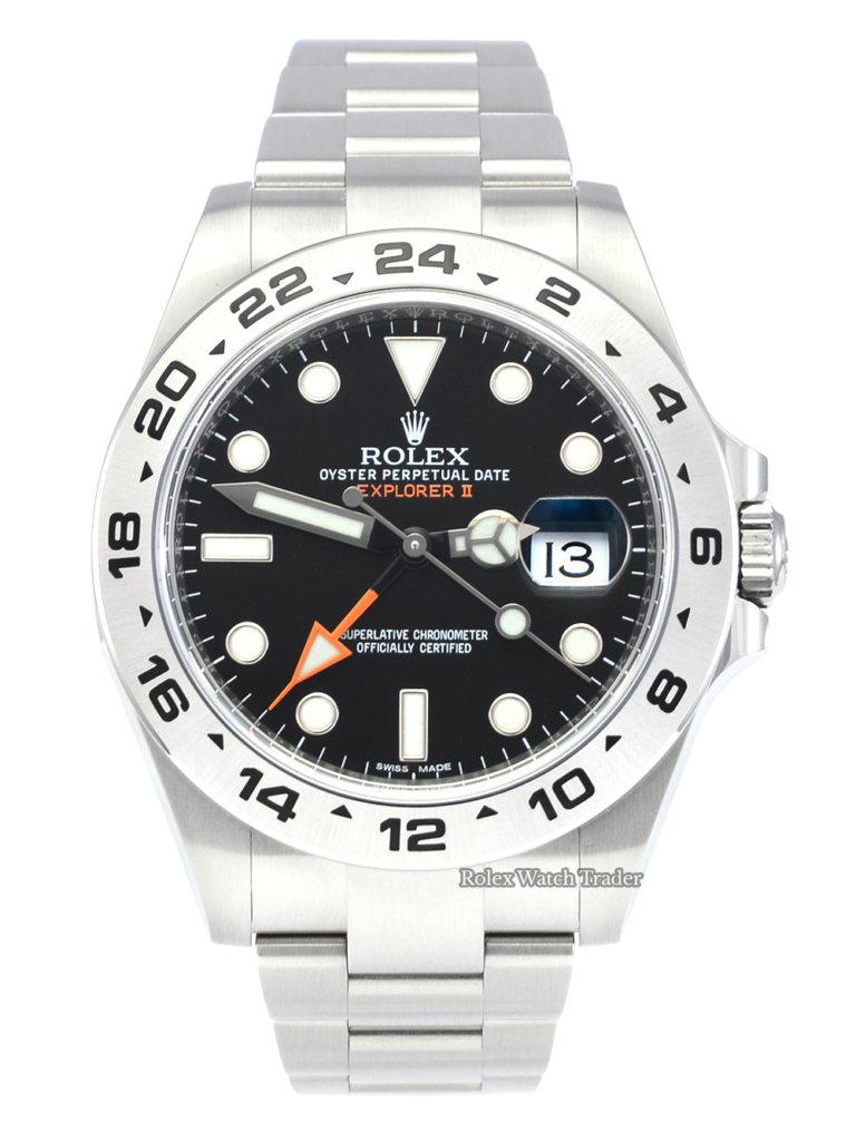 Rolex Explorer II 216570 Black Dial Unworn Brand New Stainless Steel For Sale Available Purchase Buy Online with Part Exchange or Direct Sale Manchester North West England UK Great Britain Buy Today Free Next Day Delivery Warranty Luxury Watch Watches