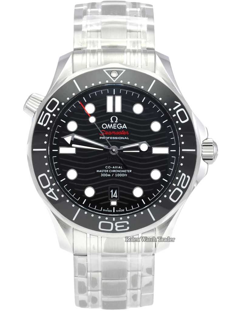 Omega Seamaster Diver 300M 210.30.42.20.01.001 Stickers Black Dial 42mm Unworn Brand New Men's For Sale Available Purchase Buy Online with Part Exchange or Direct Sale Manchester North West England UK Great Britain Buy Today Free Next Day Delivery Warranty Luxury Watch Watches