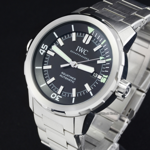 IWC Aquatimer Automatic IW329002 Black Dial 2017 Pre-Owned Second Hand Used Men's 42mm For Sale Available Purchase Buy Online with Part Exchange or Direct Sale Manchester North West England UK Great Britain Buy Today Free Next Day Delivery Warranty Luxury Watch Watches
