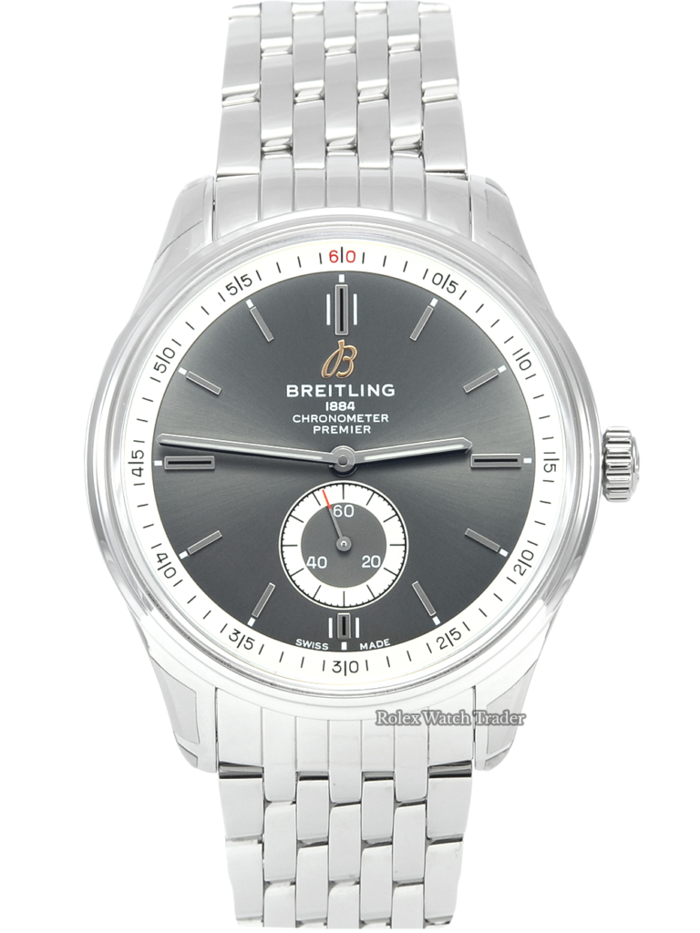Breitling Premier Automatic 40 A37340351B1A1 Unworn 2021 Brand New Anthracite Grey Dial Stainless Steel Men's 40mm For Sale Available Purchase Buy Online with Part Exchange or Direct Sale Manchester North West England UK Great Britain Buy Today Free Next Day Delivery Warranty Luxury Watch Watches