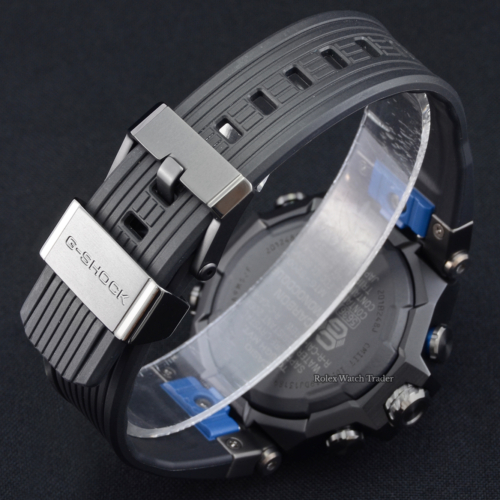 Casio G-Shock MTG-B2000B-1A2DR Unworn 2021 Brand New Black Dial Blue Bezel Black Rubber Resin Band Strap Buckle Carbon & Stainless Steel Men's For Sale Available Purchase Buy Online with Part Exchange or Direct Sale Manchester North West England UK Great Britain Buy Today Free Next Day Delivery Warranty Luxury Watch Watches