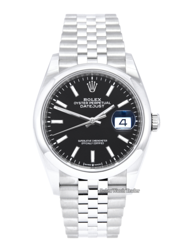 Rolex Datejust 36 126200 Black Baton Dial 2021 Unworn Smooth Bezel Jubilee Bracelet Men's Women's Unisex 36mm Brand New 5 Years Warranty Stainless Steel For Sale Available Purchase Buy Online with Part Exchange or Direct Sale Manchester North West England UK Great Britain Buy Today Free Next Day Delivery Warranty Luxury Watch Watches