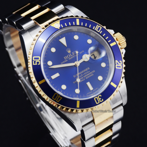 Rolex Submariner Date 16613 NOS New Old Stock Partial Stickers Unworn Unpolished 2 Years Warranty Previously Owned Men's 40mm Original For Sale Available Purchase Buy Online with Part Exchange or Direct Sale Manchester North West England UK Great Britain Buy Today Free Next Day Delivery Warranty Luxury Watch Watches