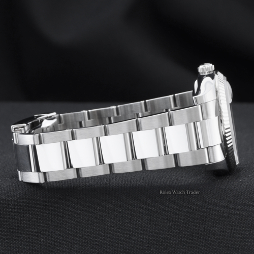 Rolex Oyster Perpetual Date 115234 34mm Silver Diamond & Arabic Numeral Dial Stainless Steel Oyster Bracelet Fluted Bezel For Sale Available Purchase Buy Online with Part Exchange or Direct Sale Manchester North West England UK Great Britain Buy Today Free Next Day Delivery Warranty Luxury Watch Watches