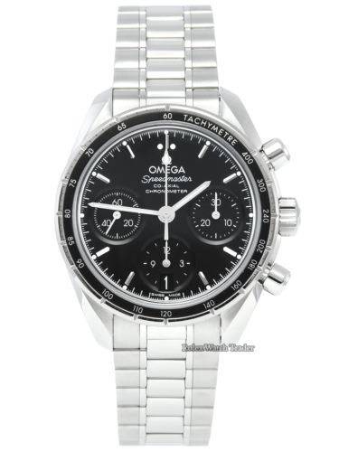 Omega Speedmaster Co-axial Chronograph 324.30.38.50.01.001 38mm Stainless Steel Pre-Owned Second Hand Used For Sale Available Purchase Buy Online with Part Exchange or Direct Sale Manchester North West England UK Great Britain Buy Today Free Next Day Delivery Warranty Luxury Watch Watches