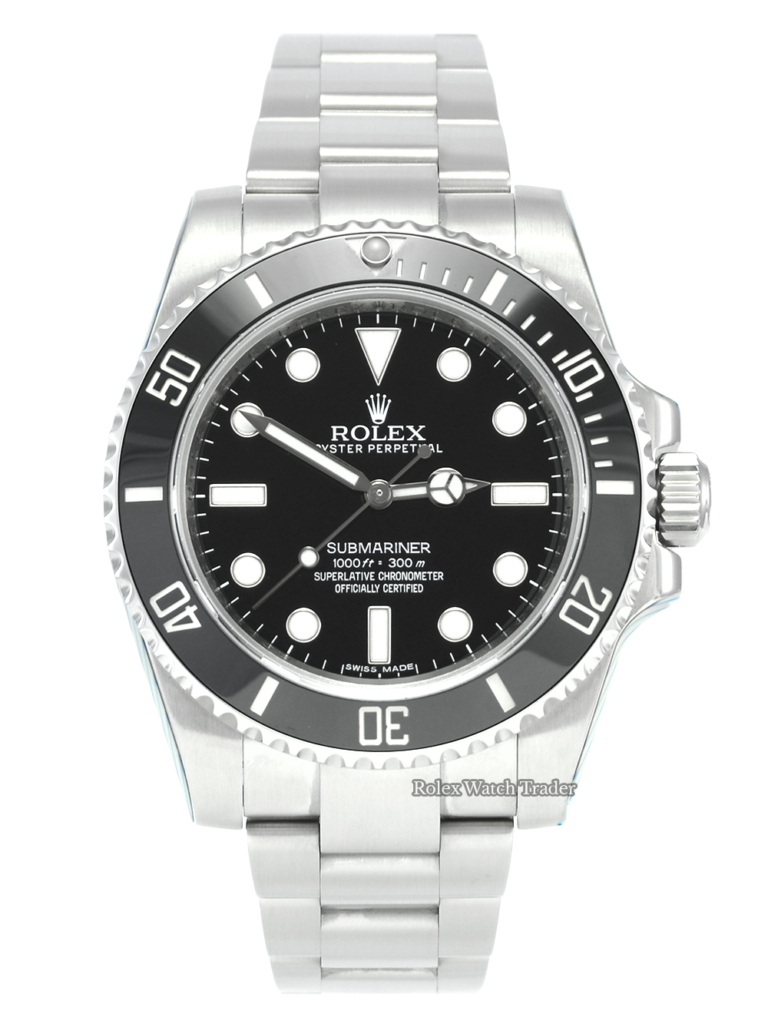 Rolex Submariner 114060 Non Date Serviced by Rolex with 2 Years Warranty Stainless Steel Sports Men's Pre-Owned Second Hand Used For Sale Available Purchase Buy Online with Part Exchange or Direct Sale Manchester North West England UK Great Britain Buy Today Free Next Day Delivery Warranty Luxury Watch Watches