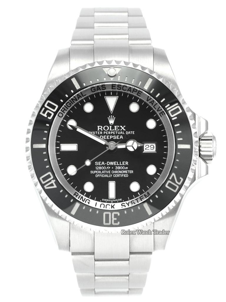 Rolex Sea-Dweller Deepsea 116660 Unworn Brand New with Some Stickers Box & Papers Complete Set Stainless Steel Sports Diving Diver's Men's For Sale Available Purchase Buy Online with Part Exchange or Direct Sale Manchester North West England UK Great Britain Buy Today Free Next Day Delivery Warranty Luxury Watch Watches