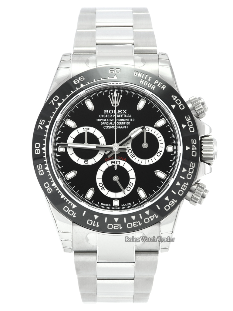 Rolex Daytona 116500LN with Full Factory Stickers Unworn Black Dial 2017 Brand New For Sale Available Purchase Buy Online with Part Exchange or Direct Sale Manchester North West England UK Great Britain Buy Today Free Next Day Delivery Warranty Luxury Watch Watches