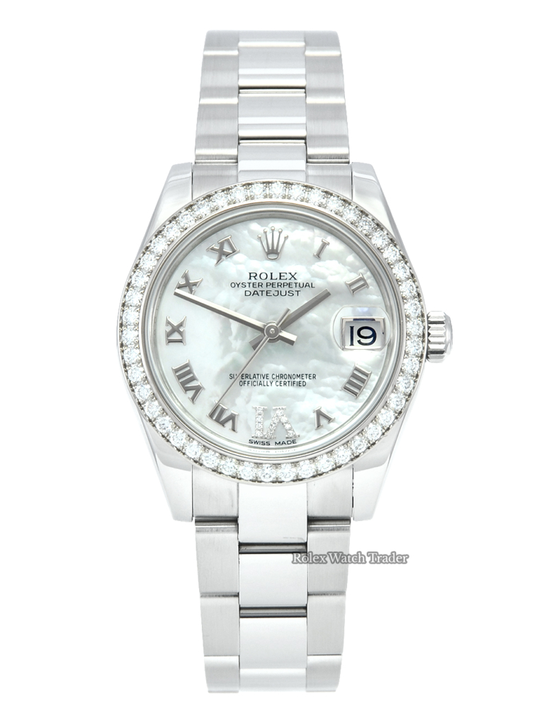 Rolex Lady-Datejust 178384 31mm Diamond Bezel Mother of Pearl MOP Dial Box & Papers For Sale Available Purchase Buy Online with Part Exchange or Direct Sale Manchester North West England UK Great Britain Buy Today Free Next Day Delivery Warranty Luxury Watch Watches