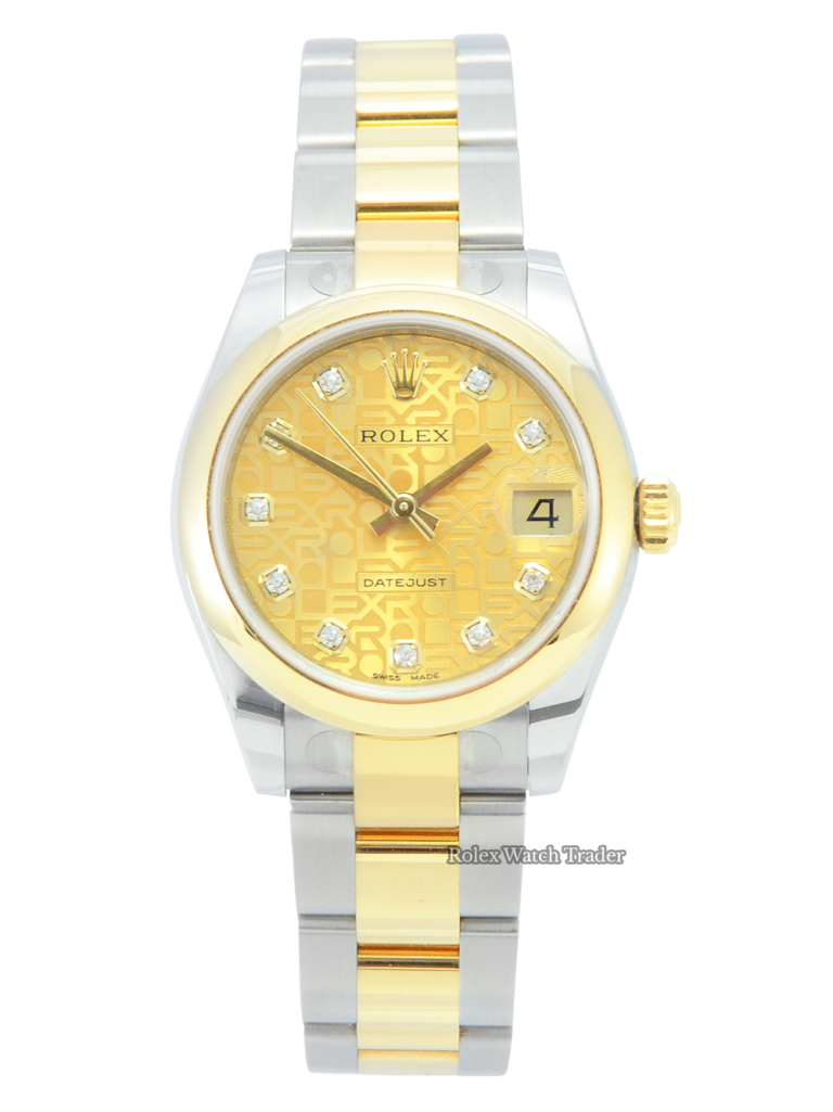 Rolex Datejust 31 Champagne Jubilee Diamond Dot Dial 2021 Factory Stickers Unworn For Sale Available Purchase Buy Online with Part Exchange or Direct Sale Manchester North West England UK Great Britain Buy Today Free Next Day Delivery Warranty Luxury Watch Watches