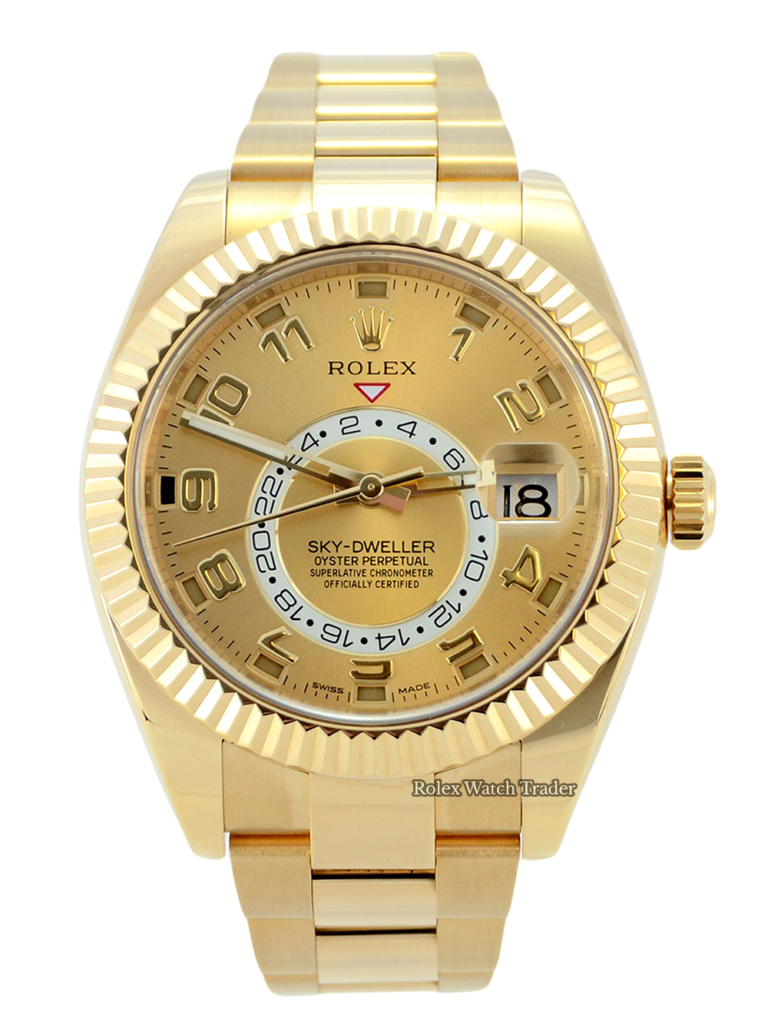 Rolex Sky-Dweller 326938 Yellow Gold For Sale Available Purchase Buy Online with Part Exchange or Direct Sale Manchester North West England UK Great Britain Buy Today Free Next Day Delivery Warranty Luxury Watch Watches