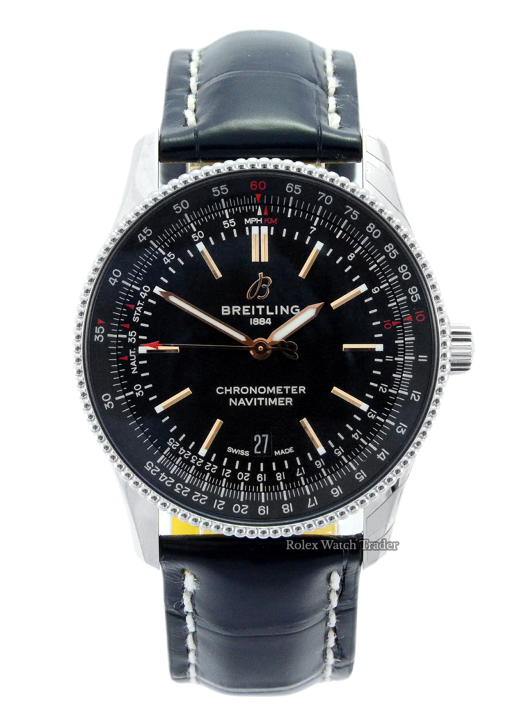 Breitling Navitimer Automatic 41 A17326241B1P1 For Sale Available Purchase Buy Online with Part Exchange or Direct Sale Manchester North West England UK Great Britain Buy Today Free Next Day Delivery Warranty Luxury Watch Watches