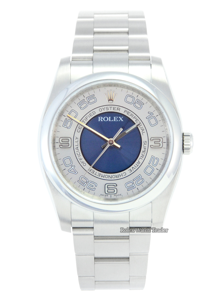 Rolex Oyster Perpetual 116000 Silver Concentric Dial For Sale Available Purchase Buy Online with Part Exchange or Direct Sale Manchester North West England UK Great Britain Buy Today Free Next Day Delivery Warranty Luxury Watch Watches