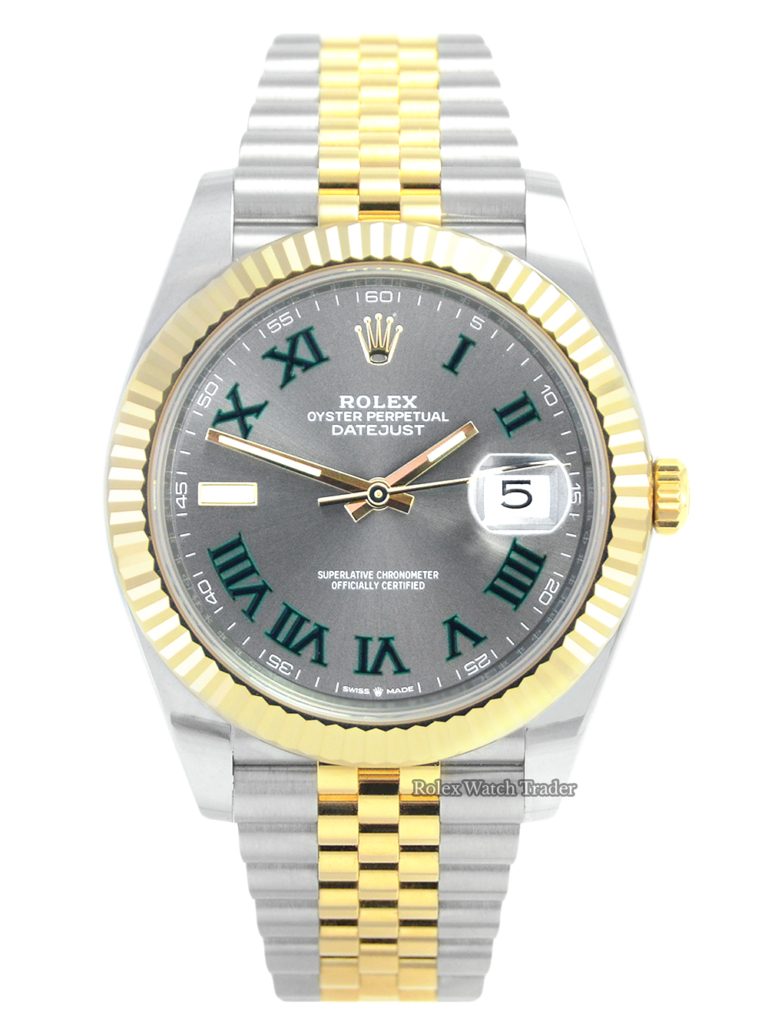 Rolex Datejust 41 Bi-Metal Jubilee Wimbledon 2021 U.K For Sale Available Purchase Buy Online with Part Exchange or Direct Sale Manchester North West England UK Great Britain Buy Today Free Next Day Delivery Warranty Luxury Watch Watches